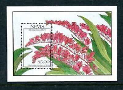 Nevis #634  $5  Christmas Orchids  S/s  Mint  Vf Nh