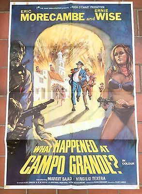 What Happened at Campo Grande UK 1 sheet film poster  * Morecambe and Wise *