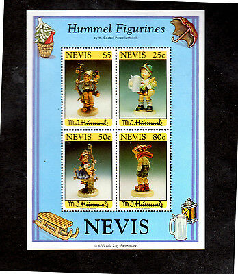 NEVIS #846a  HUMMEL FIGURINES S/S OF 4   MINT  VF NH