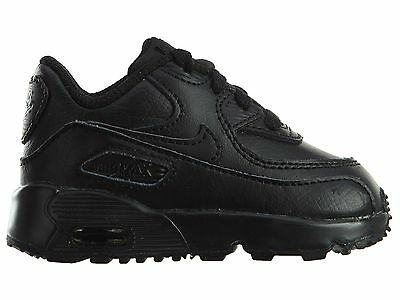 bdec34a90c Nike Air Max 90 Ltr Td Toddler 833416-001 All Black Shoes Sneakers Baby Size