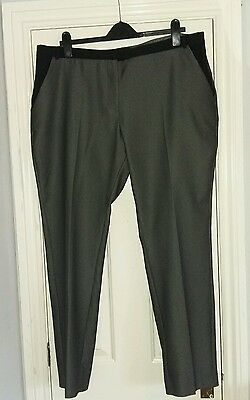 ladies smart grey and black tailored trousers size 18
