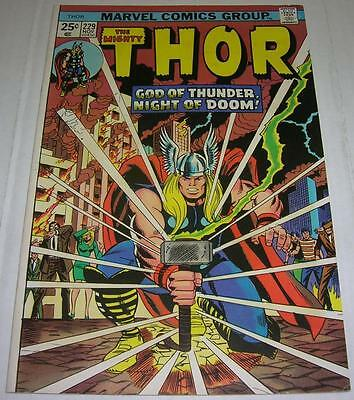 THOR #229 (Marvel Comics 1974) HULK 181 ad! 1st WOLVERINE (FN/VF) CLASSIC cover