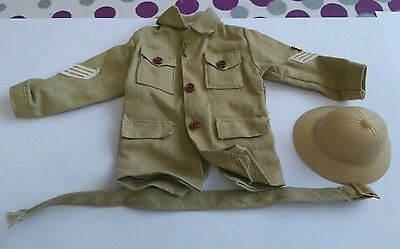 Vintage palitoy Action Man jungle jacket and hat 70s