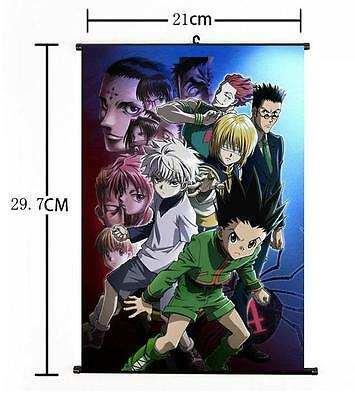 "Hot Japan Anime Hunter X Hunter Cosplay Home Decor Wall Scroll Poster 8""x12"" 017"