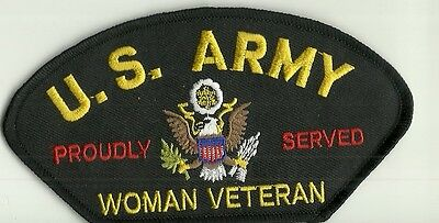 U.S. Army Woman  Veteran Proudly Served PATCH