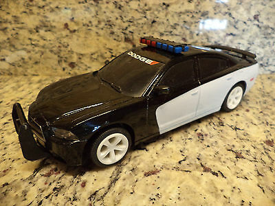 UNMARKED 2014 Dodge Charger Police Car PROMO 1:25 Scale plastic auto show black