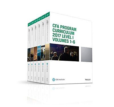 CFA Program Curriculum 2017 Level I Volumes 1-6 John Wiley PDF Book for PC MAC