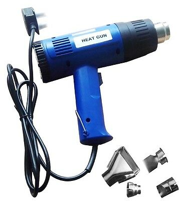 Heavy Duty 1500W Hot Air Heat Gun Paint Wallpaper Remover Stripper Free Nozzles
