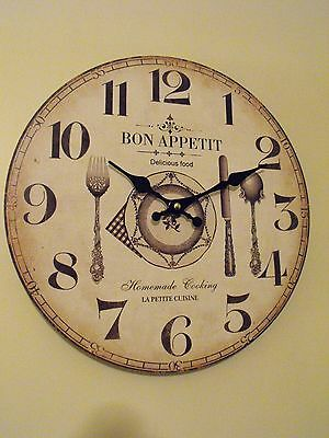 Cafe Wall Clock  Shabby Chic Cafe Restaurant Guest House Kitchen Wall Clock Gift