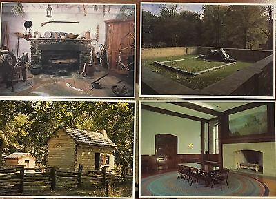 Vintage Postcard Lot Of 4 Abe Lincoln Boyhood Home Museum Lincoln City Indiana