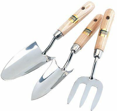 Draper Expert Stainless Steel Hand Fork and Trowels Set (3 Pieces)