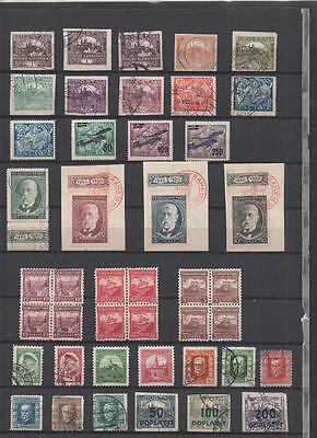 Czechoslovakia Collection Early To Late On 5 Pages
