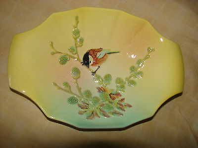 Beswick - Dish With Small Bird On Pussywillow