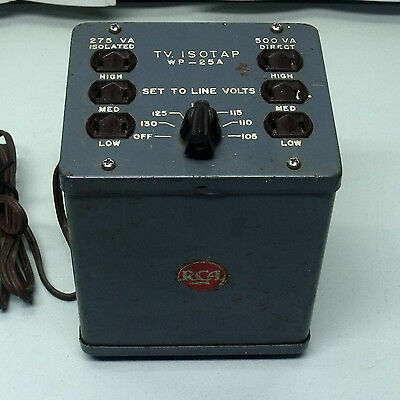 RCA TV Isotap WP-25A Variable Isolation Transformer Vintage
