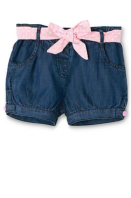 NEW Sprout Girls Chambray Belted Short Denim