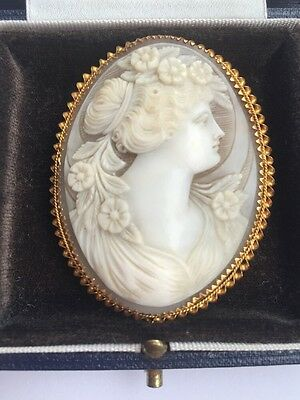 18ct Gold Cameo Brooch