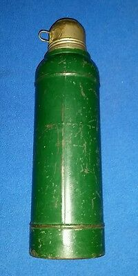 Vintage 1920's Stanley Steel Super Vac Vacuum Bottle Thermos A-38 Green