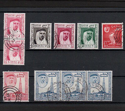 Qatar 1961 Selection Of Ahmed Bin Ali Stamps To Two Rupees Including Strips