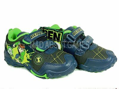 10 X Ben 10 Trainers Shoes Sizes 4 - 10 Uk Kids Children Boys Green Blue