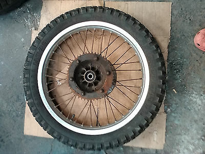 KMX 125 alloy REAR WHEEL 18x1.85 + BRAKE DISC + SPROCKET + KNOBBLY TYRE