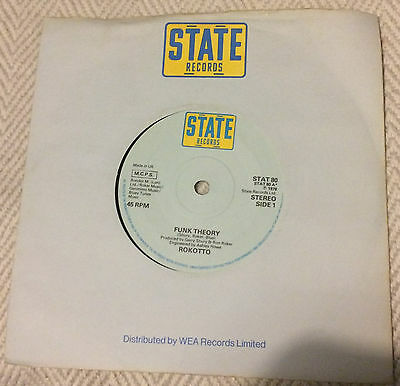 """ROKOTTO: Funk Theory. 7"""" vinyl. State Records 1978"""