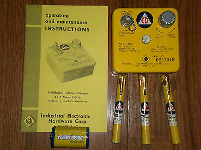 Civil Defense Dosimeter Pens And Charger  With Manual Cdv-750