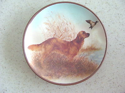 Hunting Golden Retriever with Duck Mini Plate