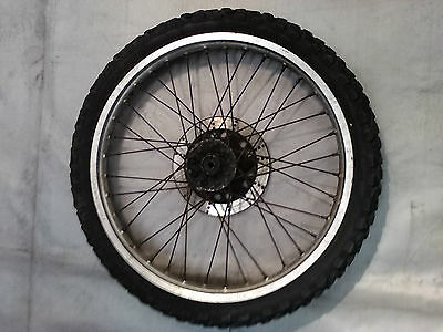 KMX 125 ALLOY FRONT WHEEL 21x1.60 + BRAKE DISC + KNOBBLY TYRE
