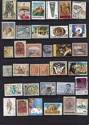 Cyprus 135+ different stamps.