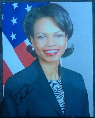 Condoleezza Rice Signed Autographed 8x10 Picture Photo US Secretary Of State