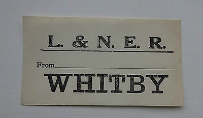 London & North Eastern Railway (Lner) Luggage Label From ........ To Whitby