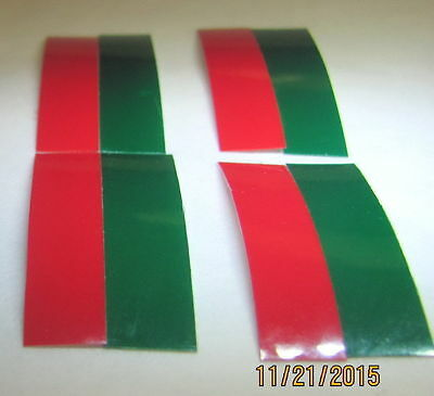 American Flyer Colored Tapes for Switch Lenses (4 sets for 2 switches)