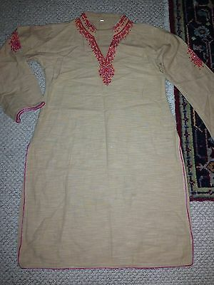 Pakistani kurta kurti shirt sz M embroidered