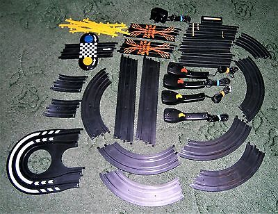 Micro Scalextric Specialist Track Bundle, 24 Pieces, Chicane, Lap Counter. +