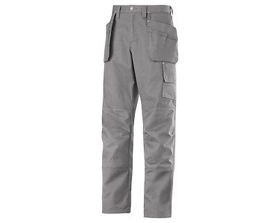 New Mens Snickers 5283 Work Holster Pocket Trousers 31W X 30L Grey - Bx 8
