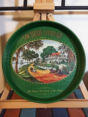 """SOUTHERN COMFORT Drink of the South Metal Tin 12"""" round SERVING TRAY sign Plate"""