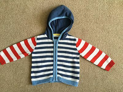 Mothercare Striped Hoodie Cardigan 6-9 Months Ex Con