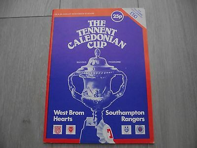 1978 Caledonian Cup - Hearts - Rangers - Southampton - West Brom