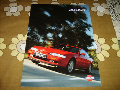 Classic Nissan 200SX S14 fold out brochure printed September 1994