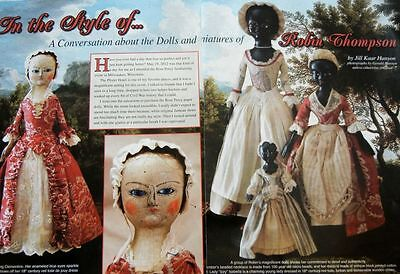14p Research Article & Pics -   Queen Anne Dolls & Miniatures of Robin Thompson