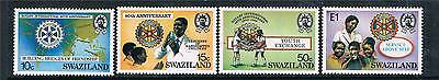 Swaziland 1985 Anniv.of Rotary  SG 477/80 MNH