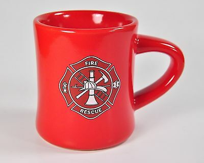 Fire Rescue Red Coffee Mug Firefighter Fireman Emergency Cup Firehouse