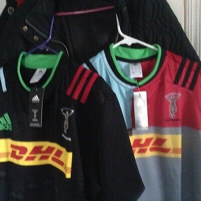 Lot of 2 Harlequins rugby jerseys Home+big game away,English Premier Rugby -XL