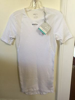 New Craft Active Extreme Concept Base Layer Size Small White Short Sleeve