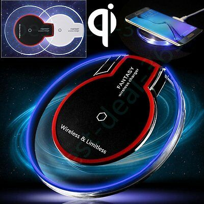 Clear Qi Wireless Fast Charger Charging Pad for Samsung Galaxy Note 5 S7 S6 Edge