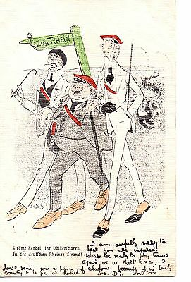 German U/B Early P/c Original Political comic. posted 1904. serie H, No 10