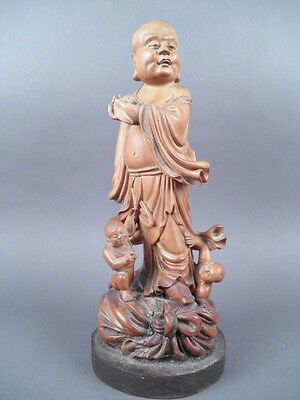 Fine Old Chinese Carved Wood Sculpture carving Sculpture Scholar Art #1