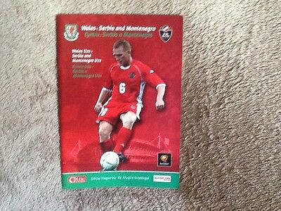 wales v Serbia and Montenegro programme 2003