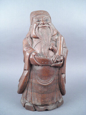 Fine Old Chinese Carved Bamboo Wood Sculpture Carving Sculpture Scholar Art #3
