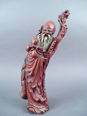 Fine Old Chinese Carved Wood Sculpture carving Sculpture Scholar Art #6